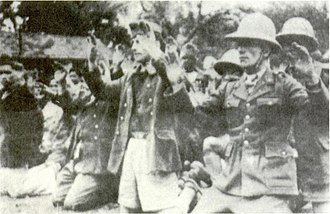 Japanese coup d'état in French Indochina - French army personnel captured by the Japanese at Hanoi