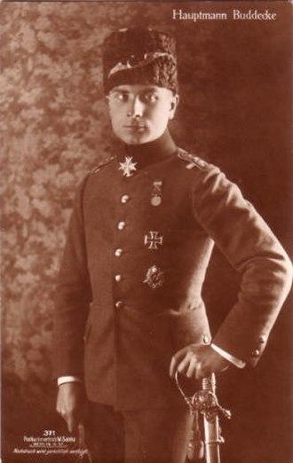 Hans-Joachim Buddecke - Hans-Joachim Buddecke, in Turkish uniform, with the Pour le Mérite at his neck