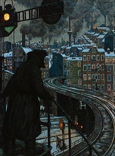 painting by Hans Baluschek