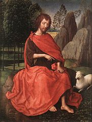 panel with St John the Baptist