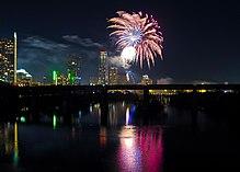 Новогодний салют в остине штат техас