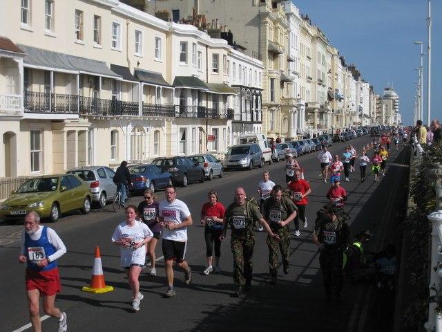 Hastings Half Marathon, Marina, St Leonards - geograph.org.uk - 1204815