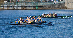The Middlebury College rowing team in the 2007 Head of the Charles Regatta Head of charles eb1.JPG