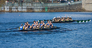 Head of the Charles Regatta - The Middlebury College rowing team in the 2007 Regatta.