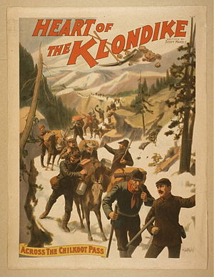 Northern (genre) - Poster for the play Heart of the Klondike (c. 1897)