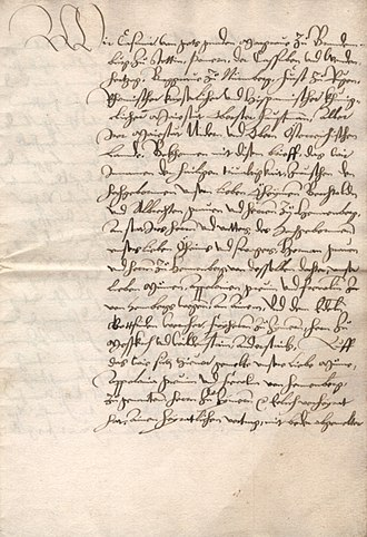Contract - Image: Heiratsbrief Gottfried Werner von Zimmern Apollonia von Henneberg 1521 img 02