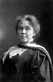 Hef and shoulders of a young woman in academic dress