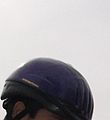 Helmet worn to ride horses safely.JPG