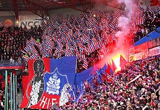 Helsingborgs IF - Tifo at a Helsingborg home game