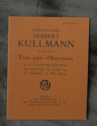 Collecting - Herbert Kullmann, picture sale catalogue by Bernheim-Jeune, Paris, May 1914.