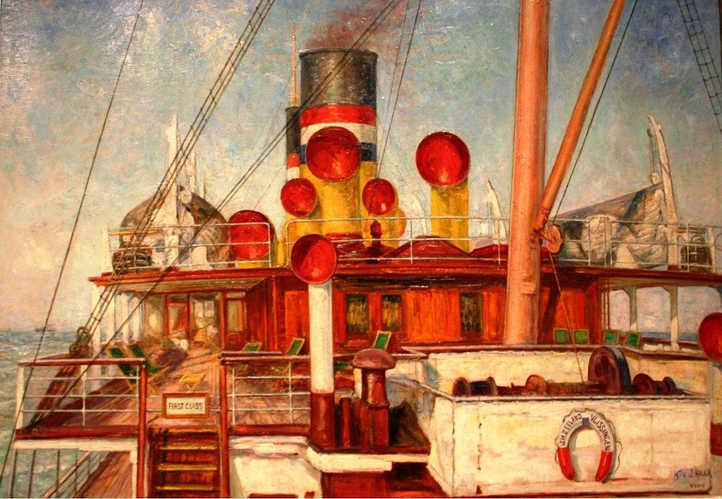 > Peinture de Herman van der Haar au musée maritime d'Amsterdam.