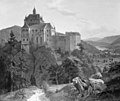 Hermann Carmiencke - Kriebstein Castle at Zschoppau in Saxony. Morning - KMS334 - Statens Museum for Kunst.jpg