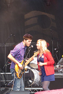 David Vertesi with Ashleigh Ball at AMS Block Party in Vancouver