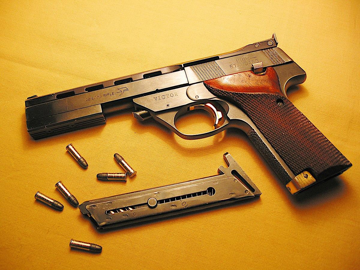 high standard 22 pistol wikipedia rh en wikipedia org High Standard Supermatic 22 Pistol High Standard Supermatic Trophy Military
