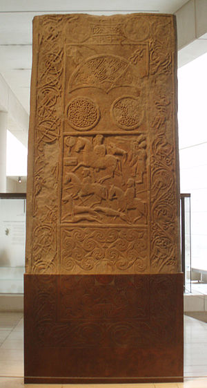 Hilton of Cadboll Stone - The Hilton of Cadboll stone in the Museum of Scotland.