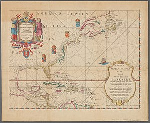 North America - Map of North America, from 1621