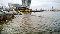 Hochwasser Marco-Polo-Terrassen Hamburg HafenCity Dezember 2013.jpg