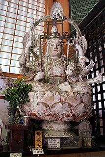 Benzaiten A Japanese Buddhist goddess who originated from the Hindu goddess Saraswati