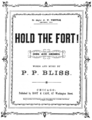 Hold the Fort original sheet music cover, transparent (Hold the Fort!, Scheips).png