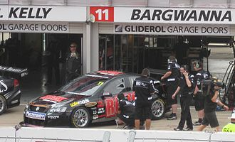 Kelly Racing - The Holden VE Commodore of Jason Bargwanna at the 2010 Clipsal 500.