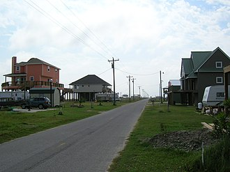 Holly Beach, Louisiana - Holly Beach in May 2007, being re-populated, despite the lack of city sewer service.