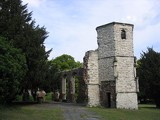Basingstoke - The remains of the 16th-century Chapel of the Holy Ghost, Basingstoke