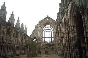 Holyrood Abbey - The ruined nave