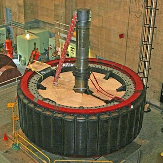 Rotor (electric) - Rotor from Hoover Dam generator