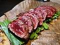 Horse meat on nira and miso.jpeg