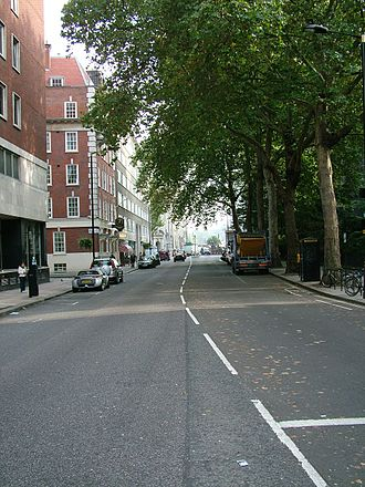 Horseferry Road - The south end of Horseferry road, facing south, October 2007