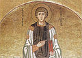 Hosios Loukas (nave, lunette on west wall of south cross arm) - S. Panteleimon.jpg