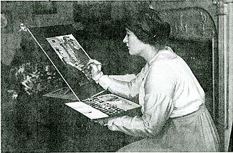 Winifred Brunton - Winifred Mabel Brunton née Newberry in her studio