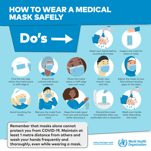 How to a wear medical mask safely - Do's