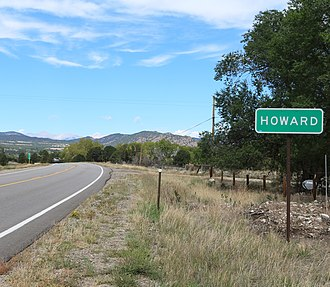 U.S. Route 50 in Colorado - US 50 looking west entering Howard
