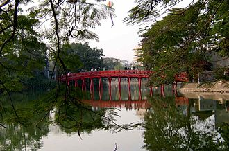Lê Lợi - The Lake of the Returned Sword in Hanoi is where Lê Lợi returned the sword to the Golden Turtle, according to the legend.
