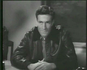 Hugh O'Brian - O'Brian as Harry Chamberlain in Rocketship X-M (1950).