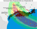 Hurricane Rita projected path September 22.png