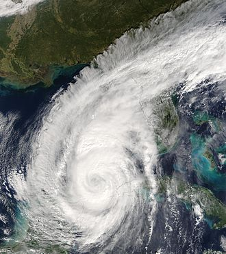 Hurricane Wilma - Hurricane Wilma west of Cuba on October 23