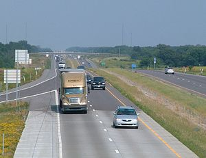Interstate 70 in Missouri - I-70 in Saline County