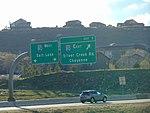 I-80 northbound exit on US-40 US-189, Apr 16.jpg
