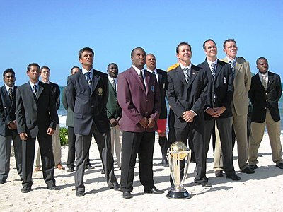 The captains of the 2007 Cricket World Cup. ICC CWC 2007 team captains.jpg