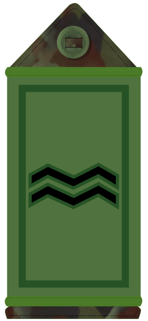 Corporal - Irish Army corporal's subdued rank slider