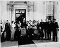ILGWU representatives from the Italian Dress Makers Union Local 89 stand with Eleanor Roosevelt, David Dubinsky, and Luigi Antonini (5279592638).jpg