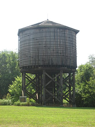 Kinmundy, Illinois - Historic Illinois Central Railroad Water Tower, built in 1885.