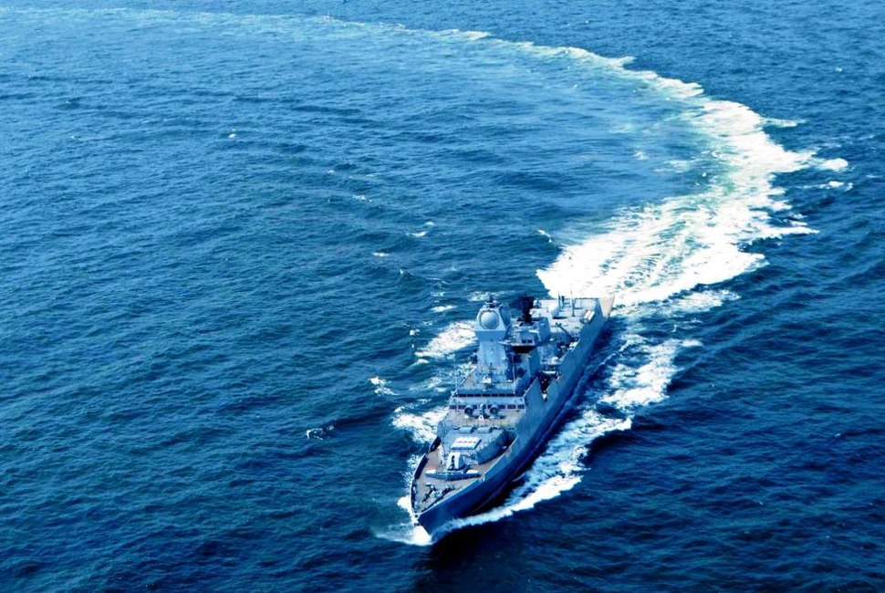 INS Kochi during trial