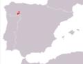 Iberolacerta galani range Map.png