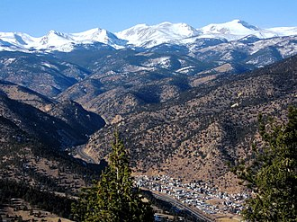 Idaho Springs, Colorado - Aerial view from the east in 2006