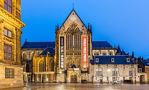 Nieuwe Kerk, Amsterdam - The Nieuwe Kerk as seen from Dam Square