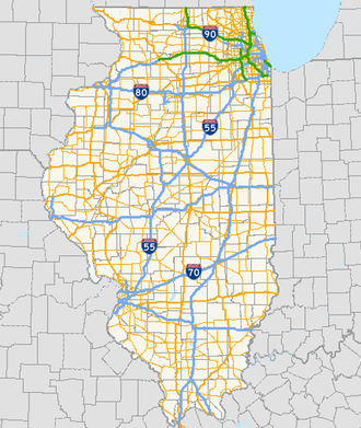 Illinois State Highway System - Image: Illinois overall
