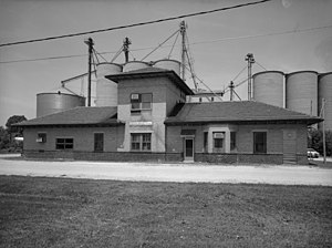 Minooka, Illinois - Image: Illinois Traction System Minooka Passenger Station